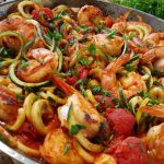 Fresh Tomato Sauce and Shrimp with Zoodles https://cleanfoodcrush.com/fresh-tomato-sauce-and-shrimp-w-zoodles