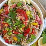 Fresh herb infused Quinoa Salad https://cleanfoodcrush.com/fresh-herb-infused-quinoa-salad