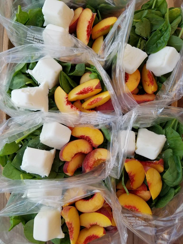 Peaches and Cream Green Smoothie Prep Packs