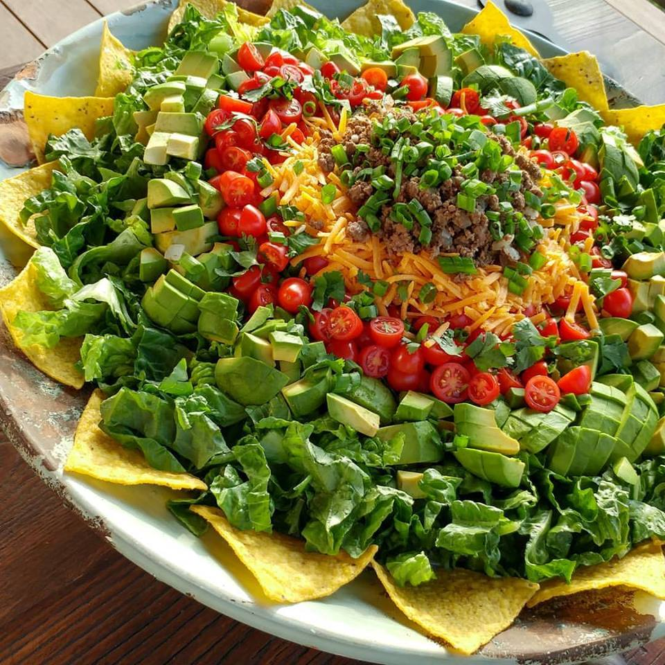 Taco Salad https://cleanfoodcrush.com/taco-salad-for-a-crowd