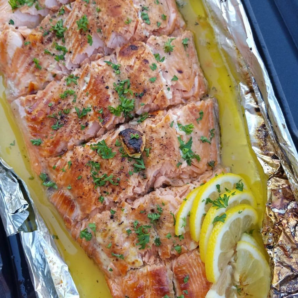 Honey Lemon Garlic Salmon