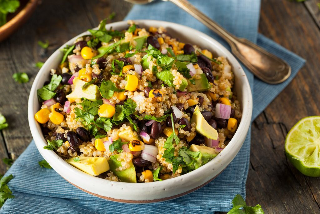 Cilantro Lime Quinoa Salad Clean Eating Recipe
