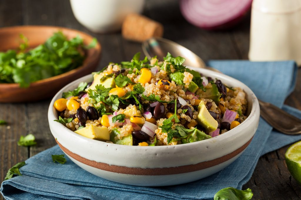 clean eating cilantro lime quinoa salad