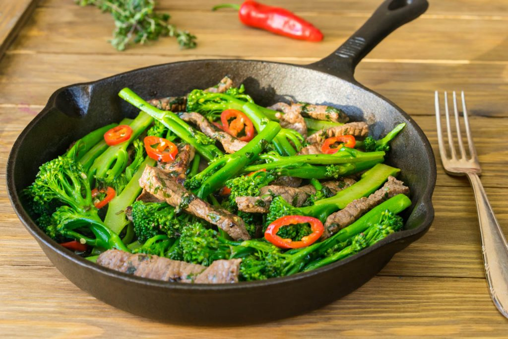 Coriander chilli beef broccoli stir Recipe