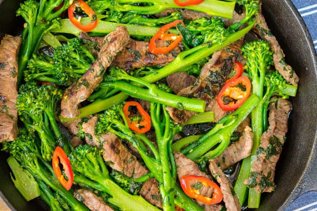 coriander chilli beef broccoli stir fry recipe
