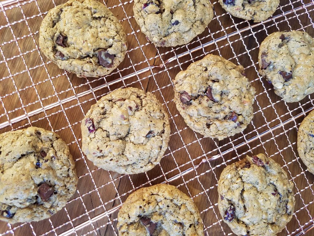 Cranberry Almond Oat Cookies