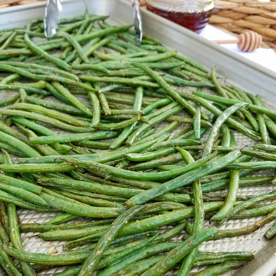 Honey Dijon Roasted Green Beans