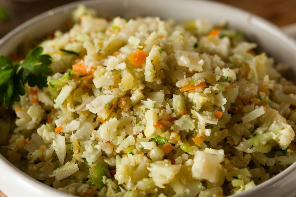 turkey herb stuffing style riced cauliflower