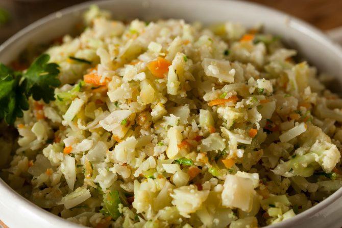 turkey herb stuffing style riced cauliflower