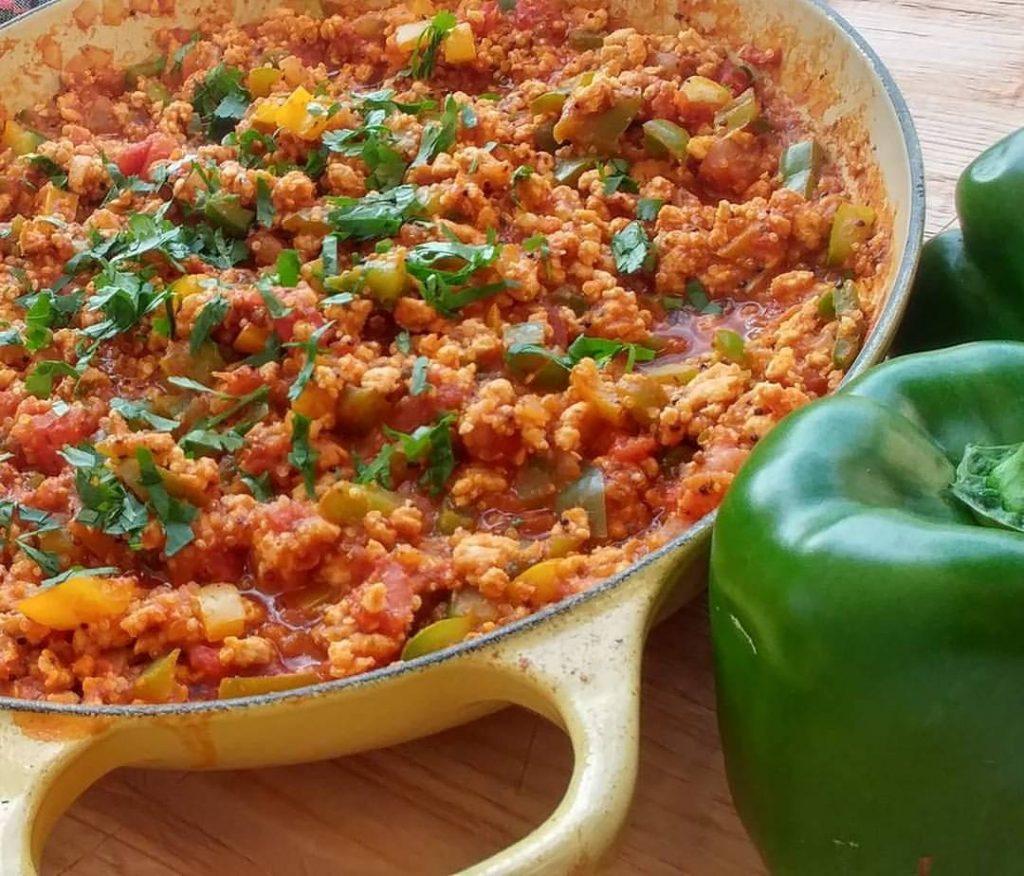 unstuffed bell pepper quinoa skillet recipe