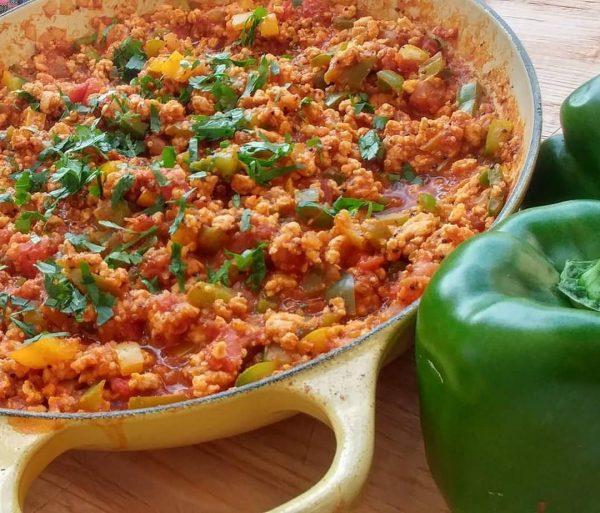 Unstuffed Bell Pepper + Quinoa Skillet | Clean Food Crush