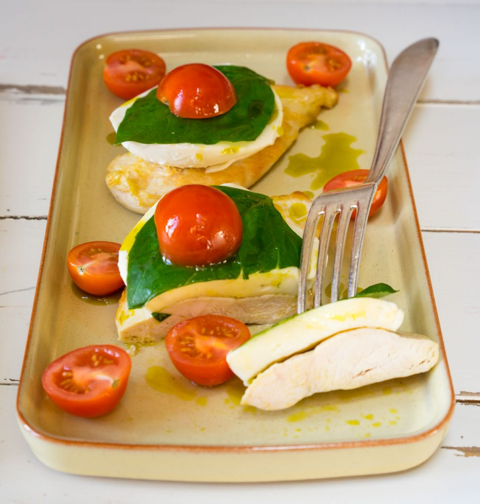 15 Minute Caprese Chicken Clean Eating
