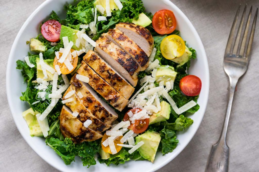 Clean Food Caesar chicken Salad