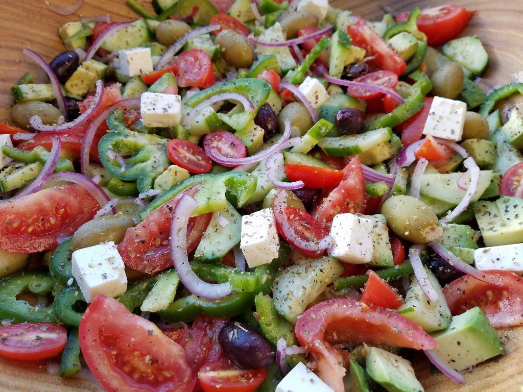 Mediterranean chop chop salad clean meal