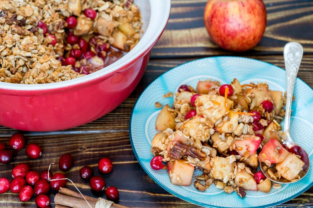 Cranberry apple crumble recipe