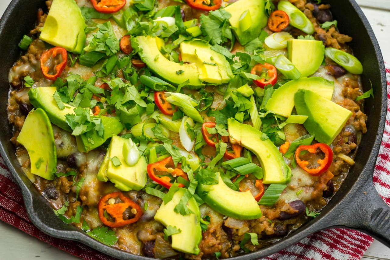 fast one pan taco skillet clean eating skillet