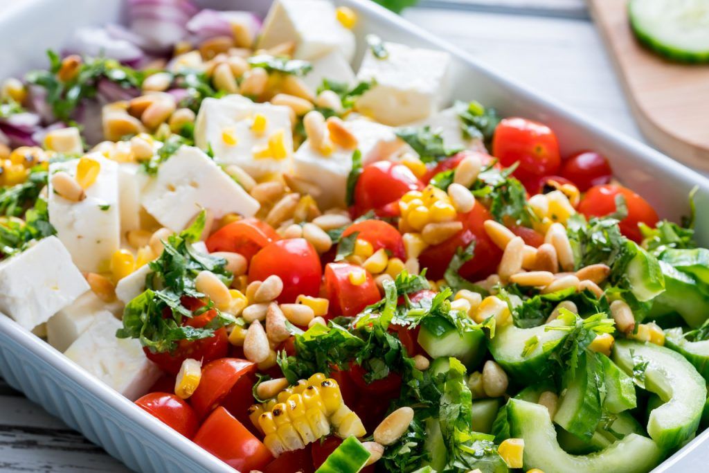 Greek salad dish