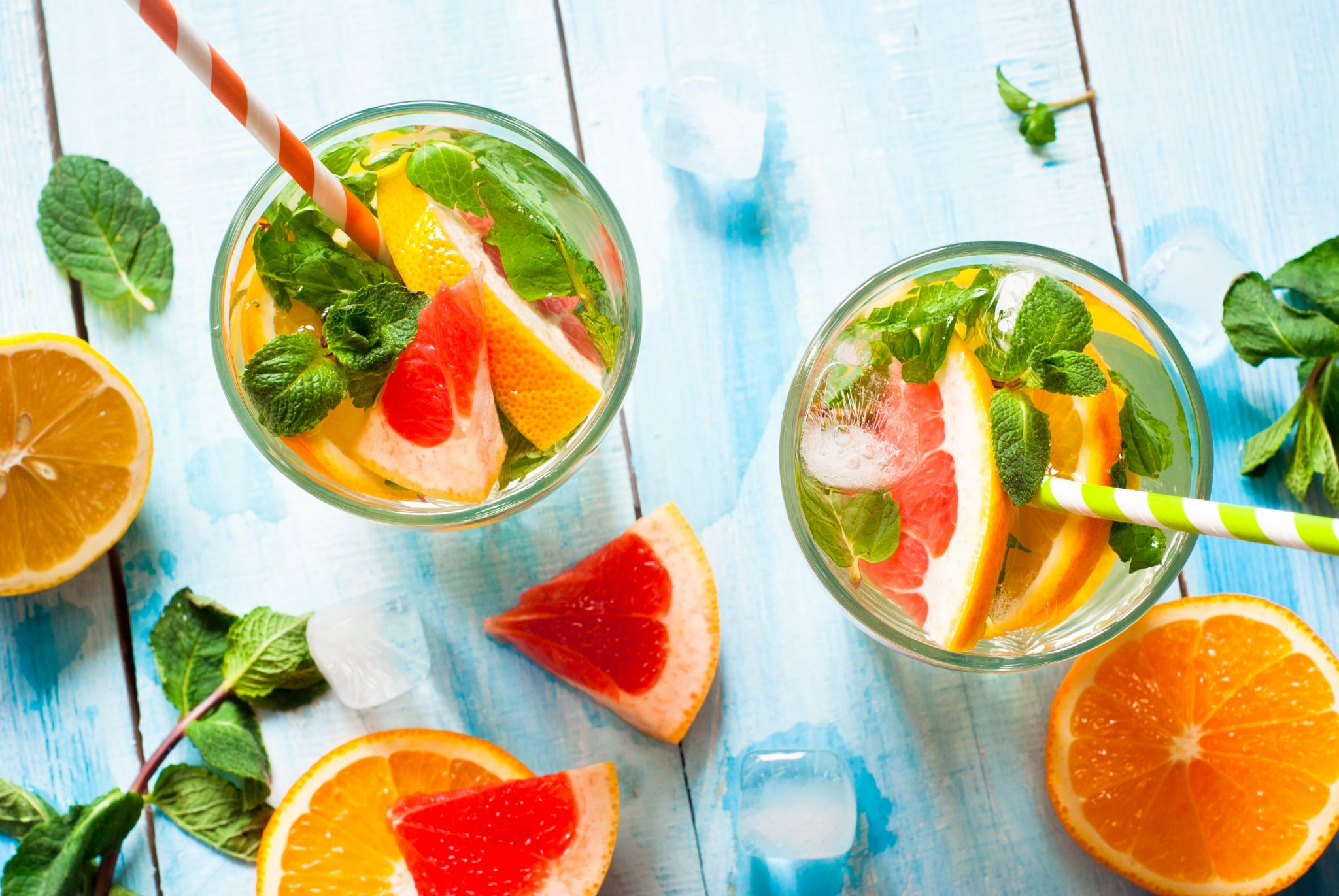 Healthy citrus mix drinks