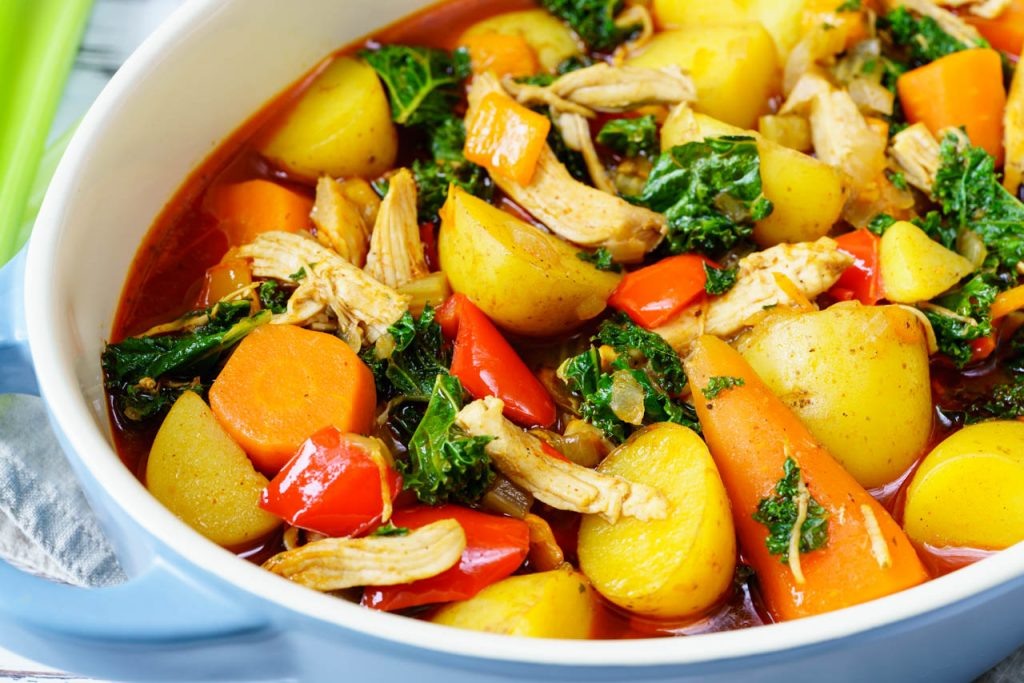 Chicken Curry with Kale and Winter Veggies