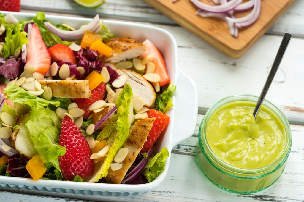 Chicken strawberry salad dressing