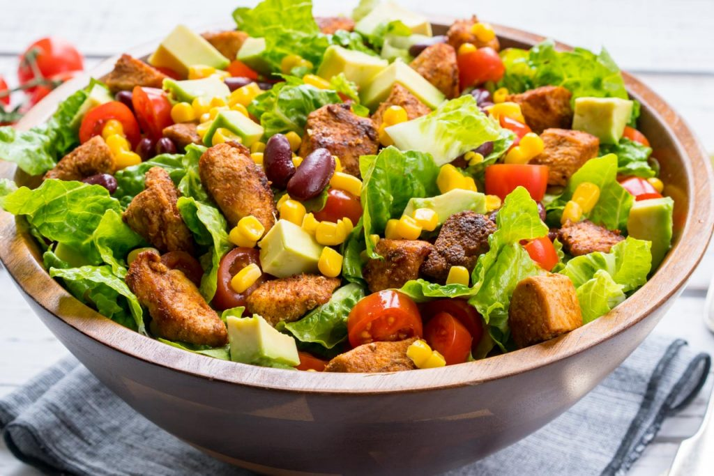 Clean food taco salad