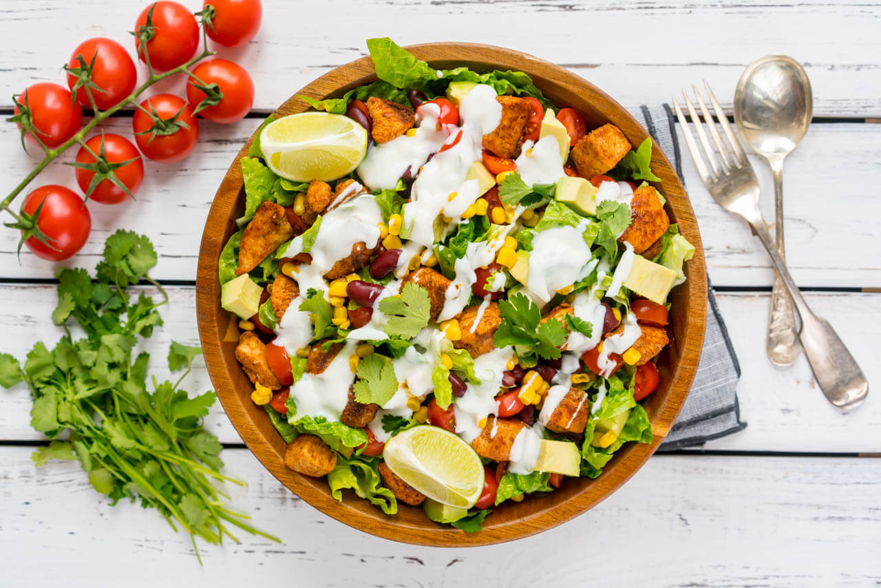 Chicken Taco Salad and Dressing Recipe