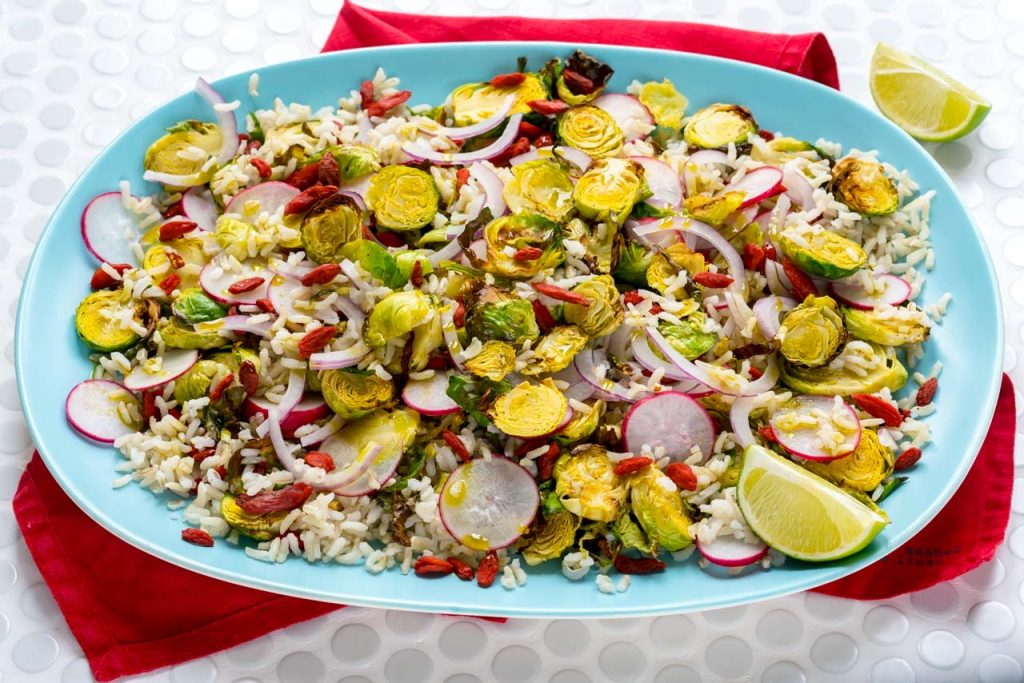 Brussels Sprouts and Brown Rice Salad