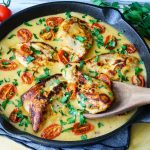 Creamy Garlic & Tomato Basil Chicken Skillet Eat Clean