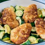 Gluten-Free Crispy Garlic Chicken and Zucchini