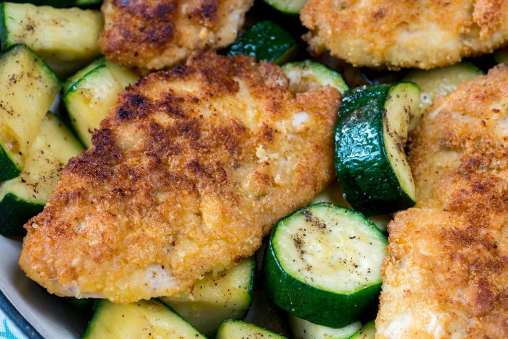 Crisp Chicken Zucchini
