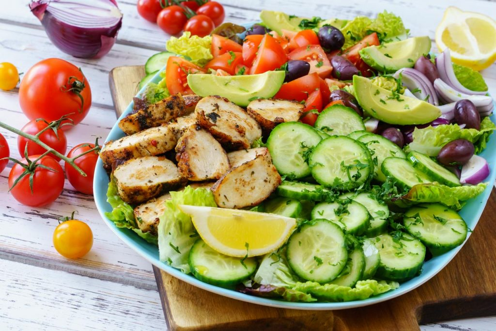 Mediterranean Chicken Salad Clean Eating