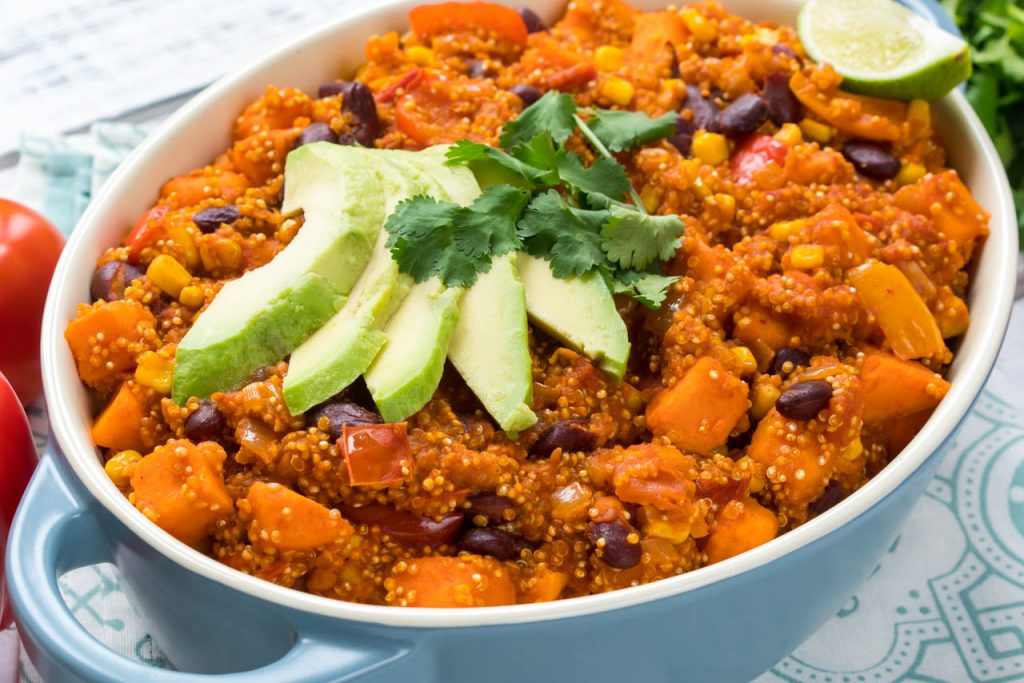/One Pot Mexican Beans Quinoa Meal