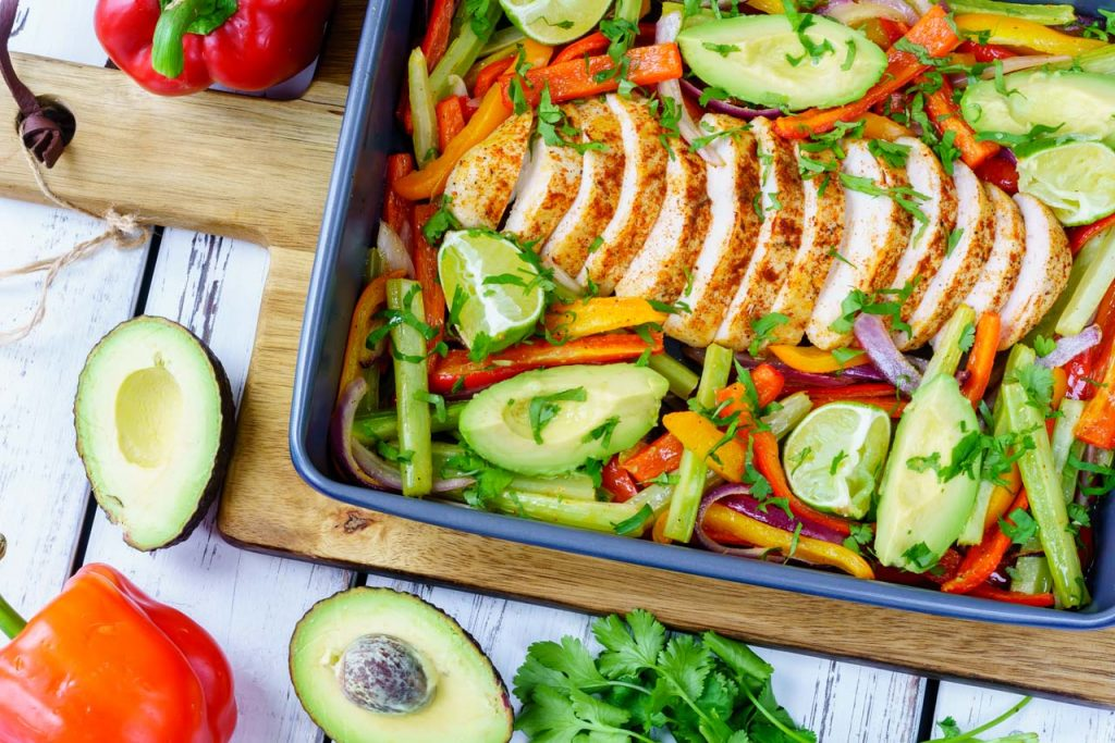 One sheet pan chicken fajita recipe