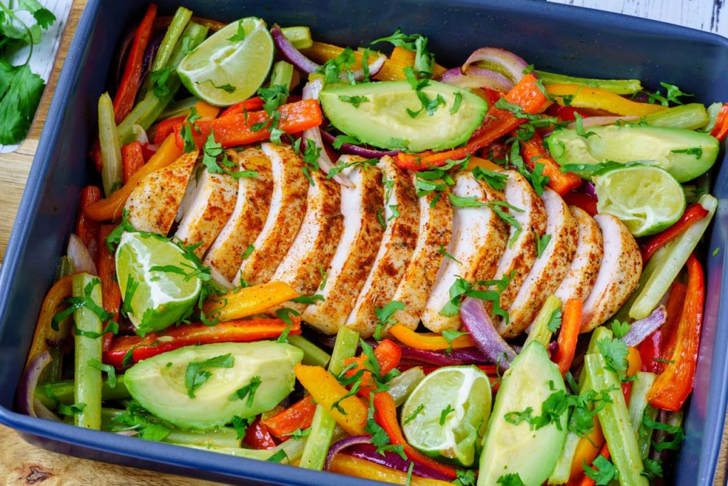 One tray chicken fajita recipe