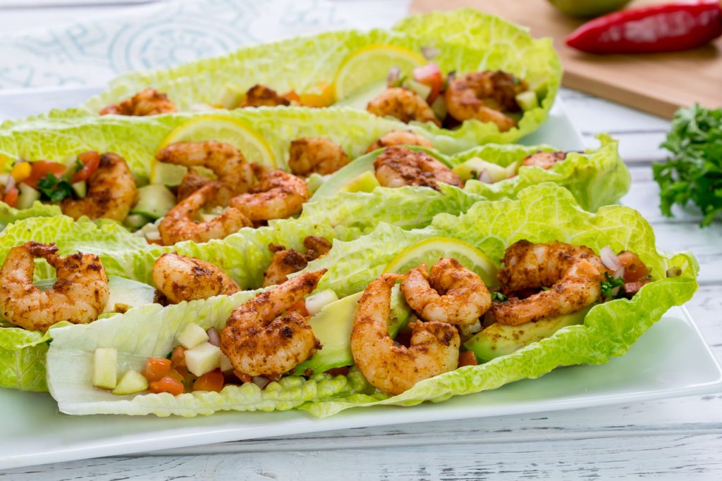 Lettuce wrapped spicy shrimp recipe