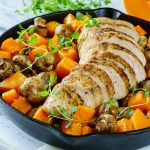 Turkey Mushroom and Butternut Squash Skillet