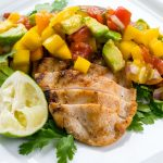 Grilled Eat Clean! Grilled Chicken with Mango with mango salsa