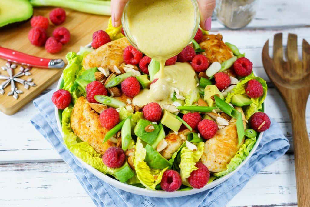 Chicken Raspberry Salad Meal
