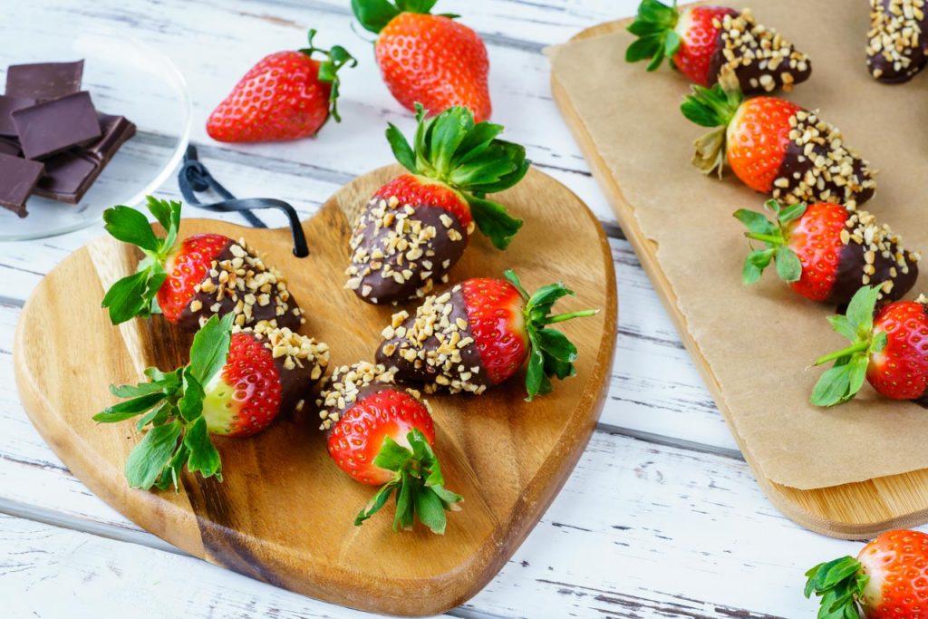 Dark Chocolate Coated Strawberries