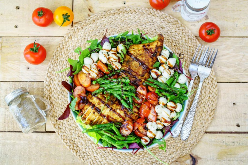 Caprese Chicken and veggies