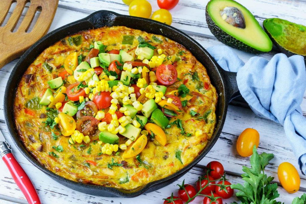 One-Pan Frittata Avocado Salsa