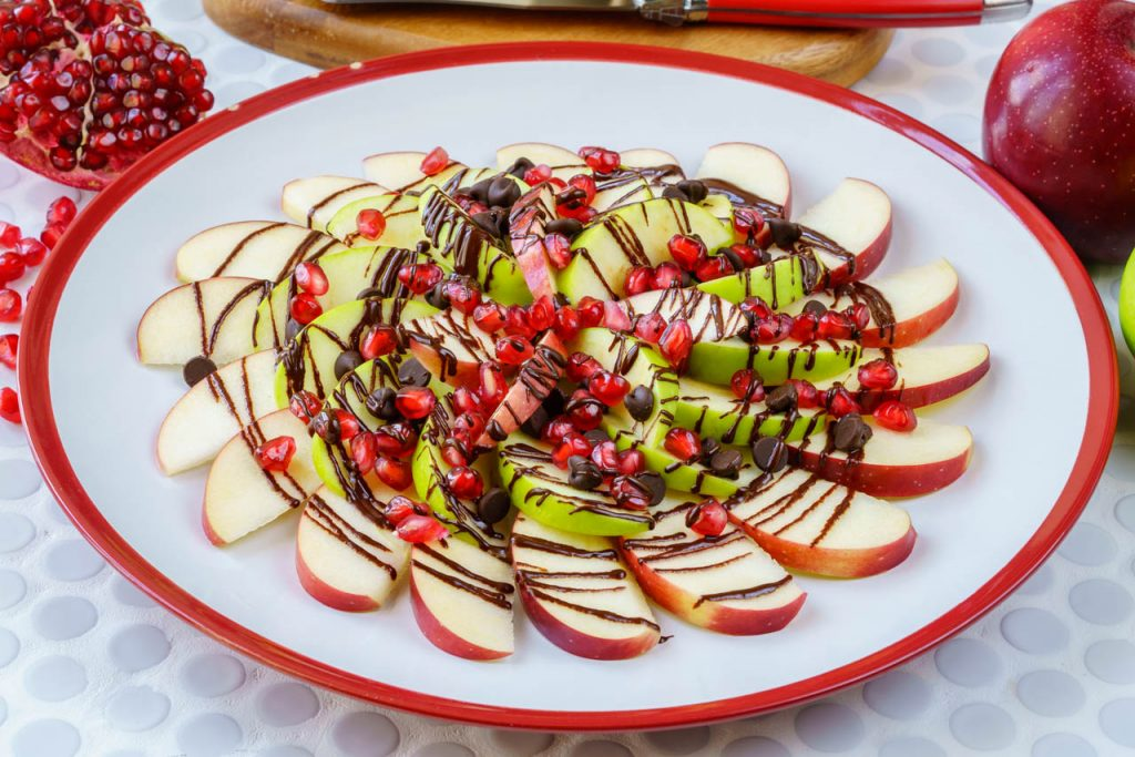 Pomegranate Chocolate Apple Nachos Snacks