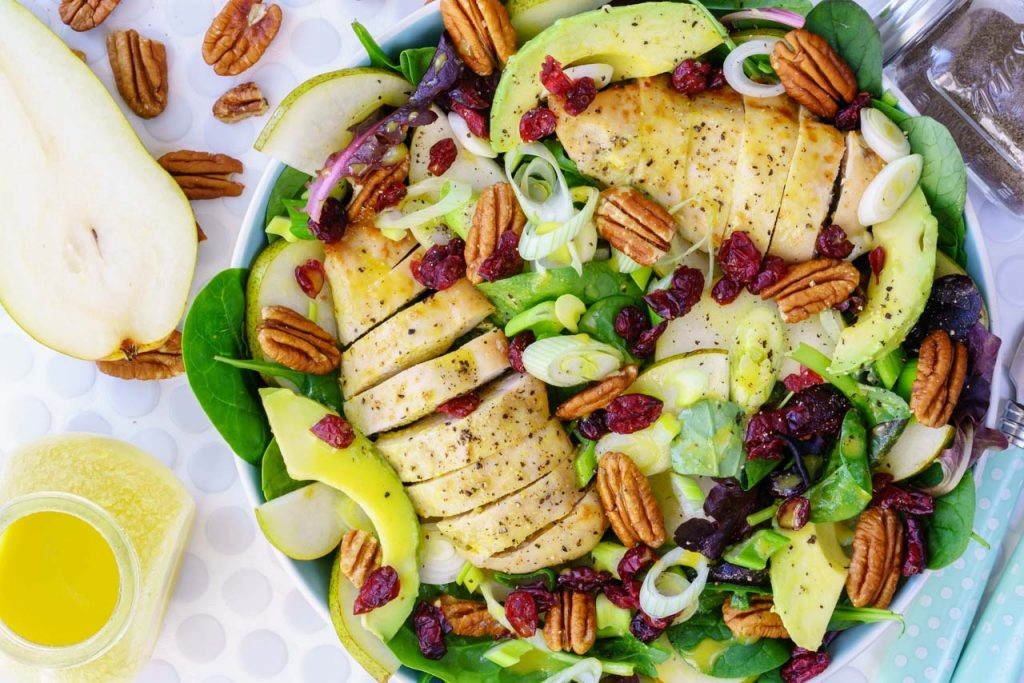 Chicken Avocado Pear Salad Meal