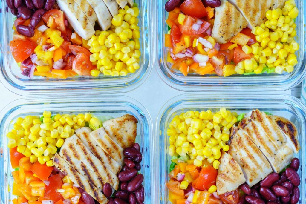 Deconstructed Chicken Burrito Bowl Meal Prep