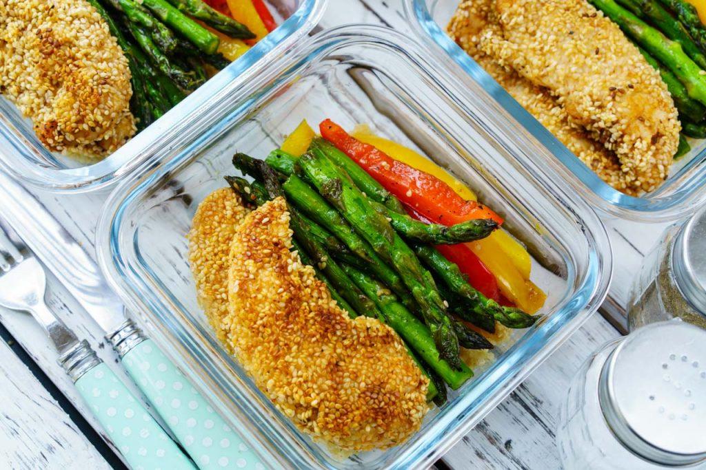 Sesame Chicken Meal Prep Bowls