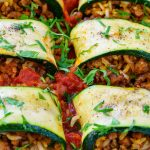 Eat Clean Burrito Stuffed Zucchini Rolls