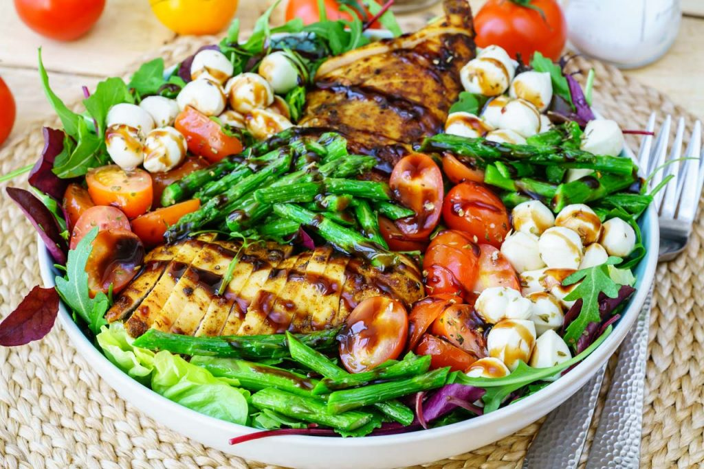 Eat Clean Caprese Chicken Salad CleanFoodCrush