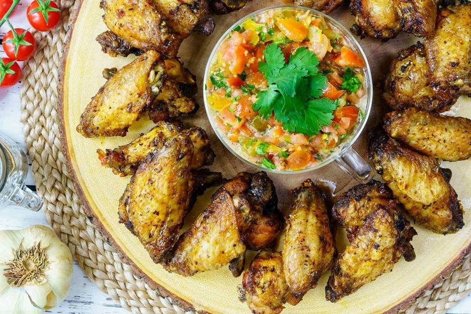 Eating Clean Jerk Chicken Wings