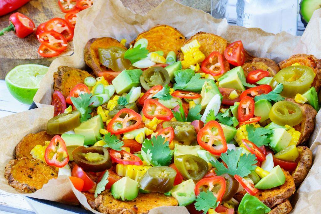 Healthy Sweet Potato Nachos CleanFoodCrush Recipe