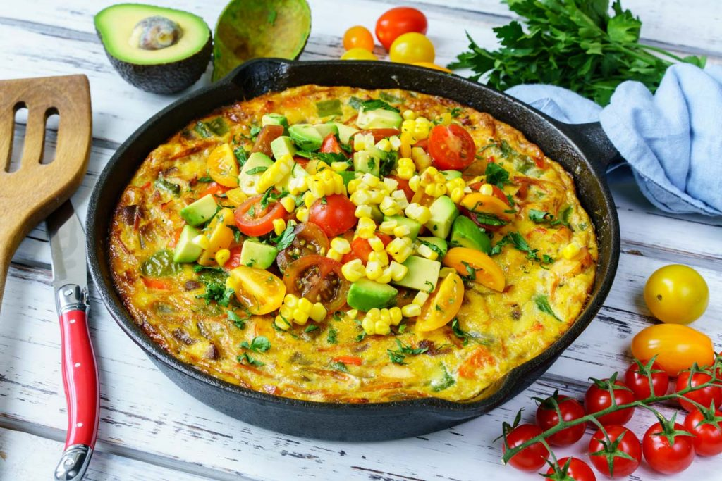 One-Pan Frittata Avocado recipe